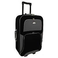 Чемодан Travel Y73 Малый, черно-серый, дорожный чемодан на колесиках