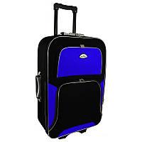 Чемодан Travel Y73 Малый, черно-синий, дорожный чемодан на колесиках