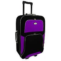 Чемодан Travel Y73 Малый, черно-фиолетовый