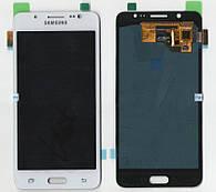 Дисплей + сенсор Samsung J510 Galaxy J5 (2016) Білий TFT LCD, з регулюванням яскравості