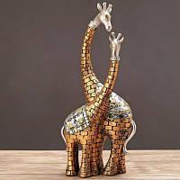 Подарок Пара Жираф Украшения Украшения Рабочего Стола Золотой