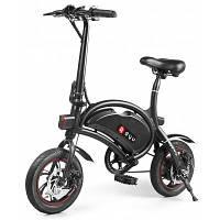 F-wheel DYU D2 Складной электрический велосипед аккумулятор 5.2Ач штекер ЕС Чёрный
