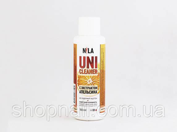 Nila Uni-Cleaner -жидкость для снятия Shellac, гель-лака, искусственных ногтей, (апельсин) 100 ml, фото 2