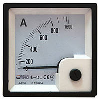 АС Амперметр трансформаторного включения ХХ/5А Модель А-72-6 (без шкалы)