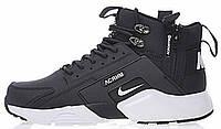 Мужские зимние кроссовки Nike Huarache X Acronym City MID Leather Black/White