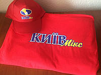 Нанесение логотипа на футболках и кепках