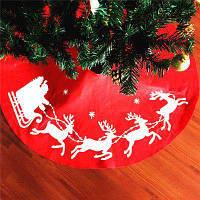 Рождественское украшение юбка для новогодней елки Красный