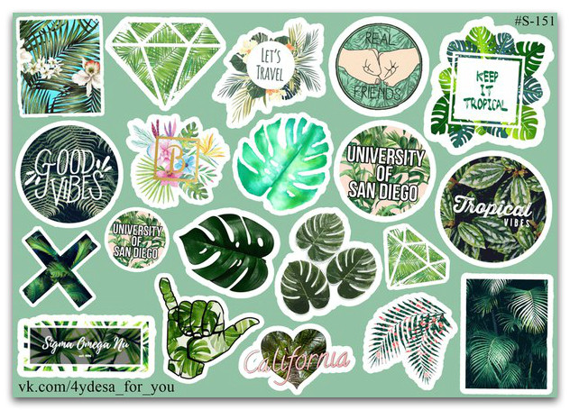 Stickers Pack Tropic Mix #151
