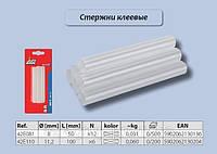 Стержни клеевые прозрачные, 11 мм., 6 шт.,  Top Tools  42E110, фото 1