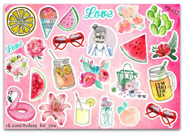 Stickers Pack Watercolor #152
