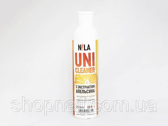 Nila Uni-Cleaner -жидкость для снятия Shellac, гель-лака, искусственных ногтей, (апельсин) 250 ml, фото 2