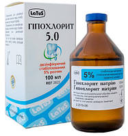 Гипохлорит 5%, 100 мл.