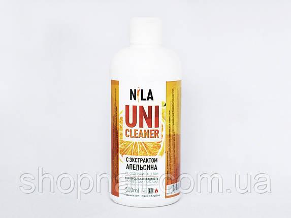 Nila Uni-Cleaner -жидкость для снятия Shellac, гель-лака, искусственных ногтей, (апельсин) 500 ml, фото 2