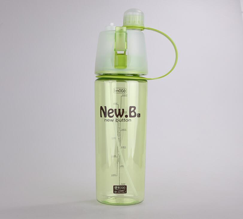 Бутылка для воды и напитков New B. с распылителем 600 мл Зеленая (New Button Bottle SUN0039)