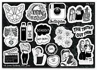 Stickers Pack Black&White #156, фото 1