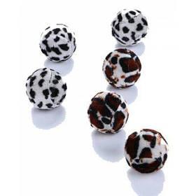 Леопардовые мячики игрушки для кошки 6шт - Цветной