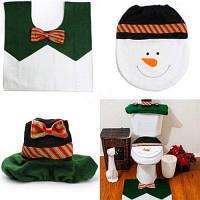Моющийся декоративный набор для туалета ванной комнаты крышка коврик Цветной