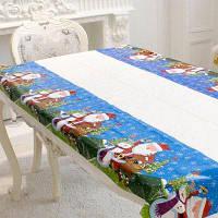 Рождественский декор одноразовая скатерть для стола Синий и белый