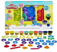 """Набор Плей до 10 цветов и 30+ форм """"Штампы и фигурки"""" Play-Doh Stamp Toolkit, оригинал из США"""