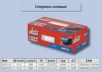 Стержни клеевые прозрачные, 11 мм., 100 шт.,  Top Tools  42E152, фото 1
