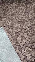 Стёганая матрасная ткань на синтепоне Цветок кор.