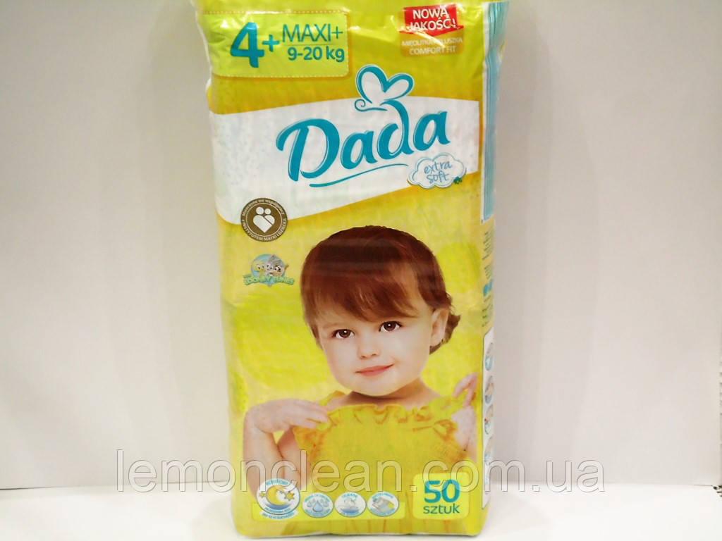 Подгузники Dada extra soft 4+ Maxi+ 9-20кг 50шт