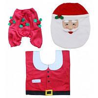 Рождественский комплект для туалета чехол коврик дизайн Санта-Клаус Цветной