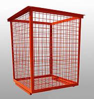 Уличный бак (контейнер) металлический для пластиковых отходов № 3