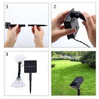 String 5M 20 LED Water Drop Light Водонепроницаемый светильник Garden Landscape Fairy Solar Decorative Разноцветный