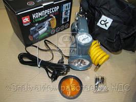 Компрессор, 12V, 7Атм, 30л/мин, фонарь, прикуриватель, кабель 3м, шланг 1м, (арт. DK31-001A), ACHZX