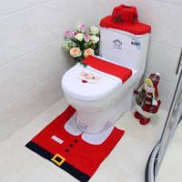 Yeduo Новогодний набор для туалета коврик чехол украшение для ванной комнаты Цветной