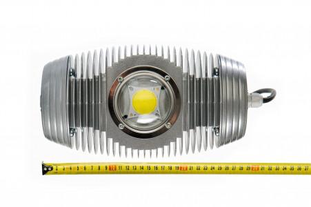 Уличный светодиодный светильник LPL-1 рядом с линейкой - размеры