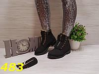 Ботинки зима Балманы чёрные