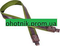 Ружейный ремень - кожа и брезент (Ретро). Цвет Хаки-коричневый.