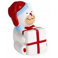 Антистрессовая мягкая эластичная игрушка в форме медведя в рождественском стиле 41630