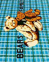 Микрофибровая простынь, покрывало Elway детское (110х140) Семья медведей ( голубой )