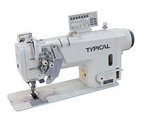 Typical GC9751НD3 Двухигольная машина челночного стежка, с игольным продвижением,  встроенным сервоприводом, с авт. функциями
