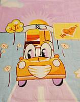Микрофибровая простынь, покрывало Elway (110х140) детское Машинка