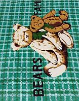 Микрофибровая простынь, покрывало Elway детское (110х140) Семья медведей ( зелёный )