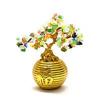 Дерево в золотой кадке (20х19х12 см)