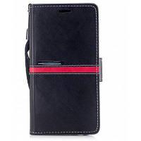 Элегантный Стиль задняя магнитной пряжкой флип PU кожаный бумажник Чехол для Samsung Галактики J5, в нашей стране 2017 (Европа и Азия издание) Чёрный