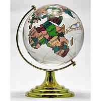 Глобус хрустальный цветной (8)(13х8х8 см)
