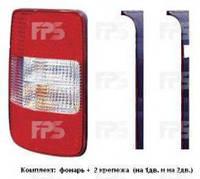 Фонарь задний для Volkswagen Caddy '04-15 правый (TYC) 1/2 Door (В К-Те С Универс. Креп-М)