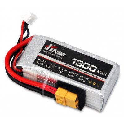 JHPOWER 7.4V 1300mAh 25C LiPo аккумулятор - Цветной, фото 2