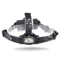 20W 800lm 6000K 2 XML-T6 LED налобный фонарь Чёрный