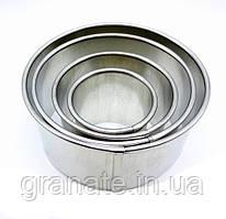 Кольца для гарнира металлические круглые,вырубка для пряников, набор - 4 шт