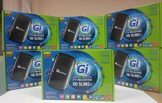 Спутниковый тюнер ресивер приставка Mpeg4 Galaxy Innovations GI HD SLIM 2 PLUS с картоприемником