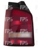 Фонарь задний для Volkswagen Transporter T5 '10-15 левый (DEPO) 1 дверь, темно-красный 441-19B1L-UE2