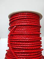 Кожаный шнур плетенный 3 мм