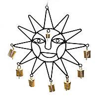 """Подвеска """"Солнце"""" с колокольчиками (50,5х31х2,5 см)"""